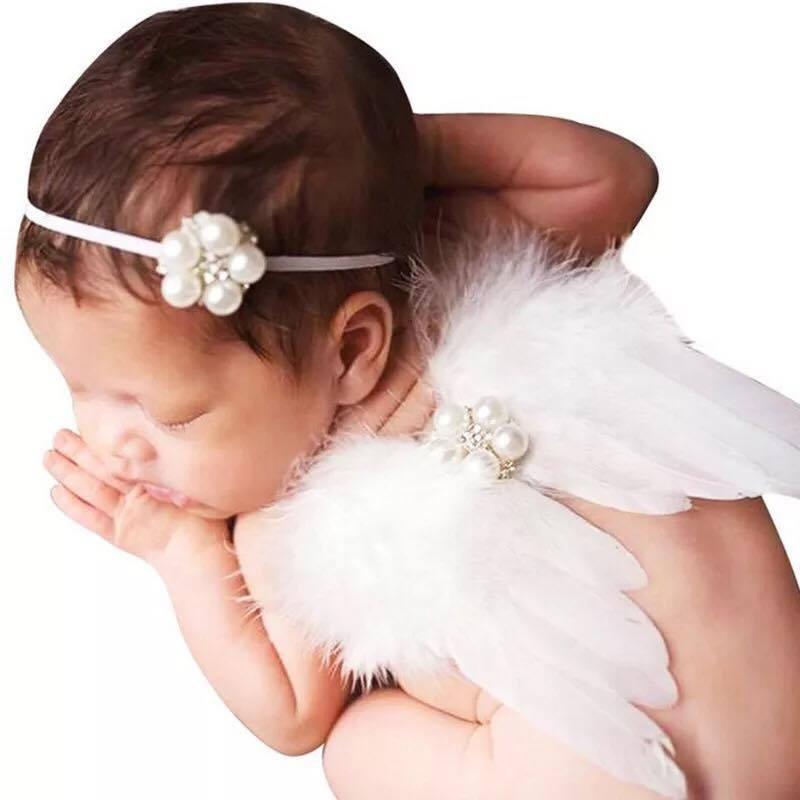 đạo cụ chụp hình cho bé set thiên tháng ngọc trai