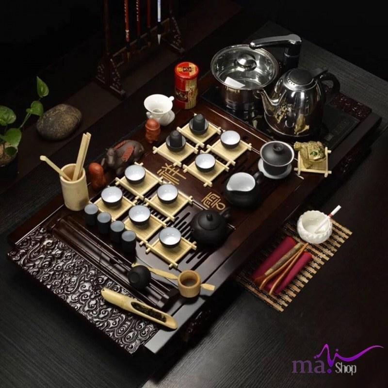 bàn trà gỗ điện đa năng