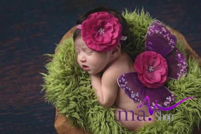 Đạo cụ chụp hình cho bé hình bướm thiên thần
