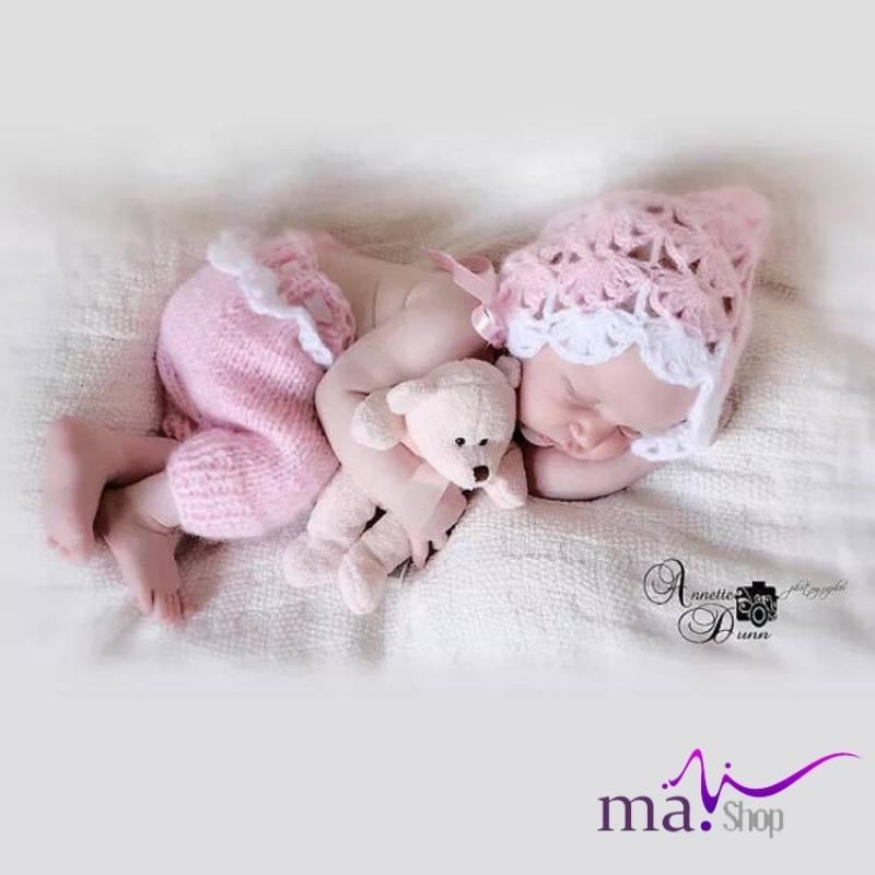 đạo cụ chụp hình cho bé set nón và quần len cute