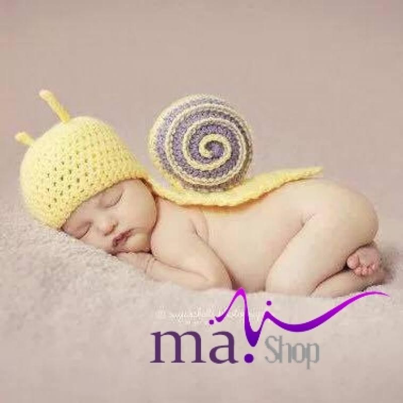 đạo cụ chụp hình cho bé ốc sên con đáng yêu