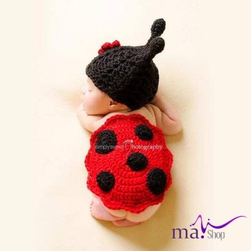 Đạo cụ chụp hình cho bé hình con bọ đỏ