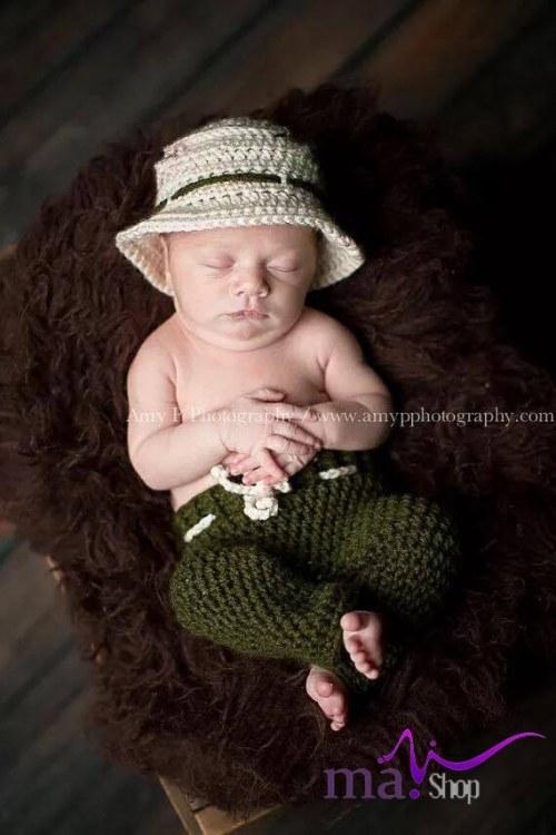 Đạo cụ chụp hình cho bé cao bồi ngủ say