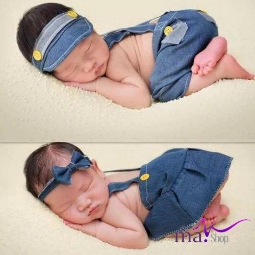 Đạo cụ chụp hình cho bé thời trang jean