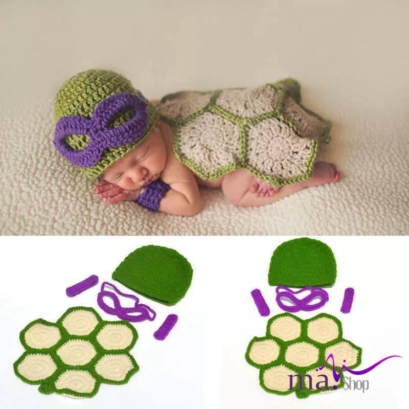 Đạo cụ chụp hình cho bé siêu nhân rùa