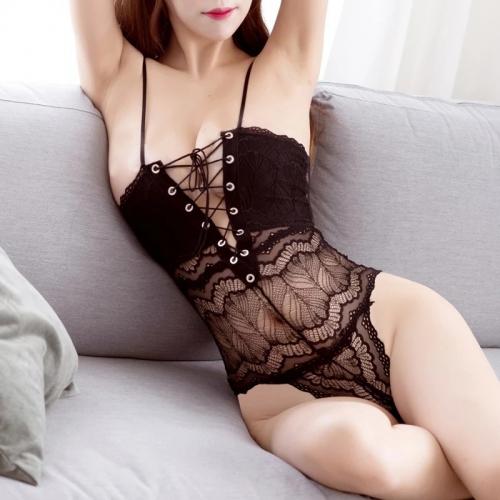 1048 Jum lót hoa văn đan dây chéo trước ngực