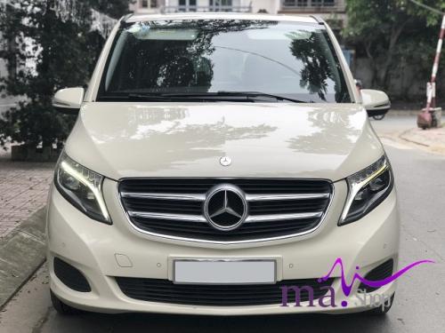 Mecedes V220D máy dầu 2016, xe màu trắng xà cừ