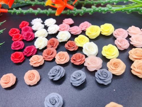 0900 Hoa hồng 3D trang trí móng
