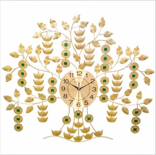 Đồng hồ treo tường nghệ thuật kiểu dáng cây kim tiền 009