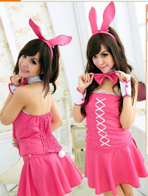 1146 Cosplay Thỏ Pink