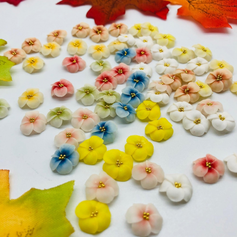 hoa đậu bột trang trí móng