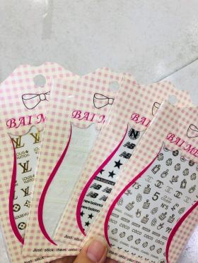 0893 Decal dán móng thương hiệu ( GUCCI, CHANEL, DIOR,...)